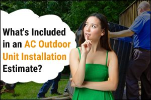AC outdoor unit installation estimate