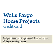 Wells Fargo Home Projects credit card.